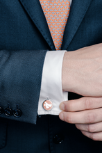 Middle East Silver Cufflinks - Orange