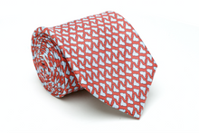 Latin America Necktie - Red & Light Blue - Reddendi