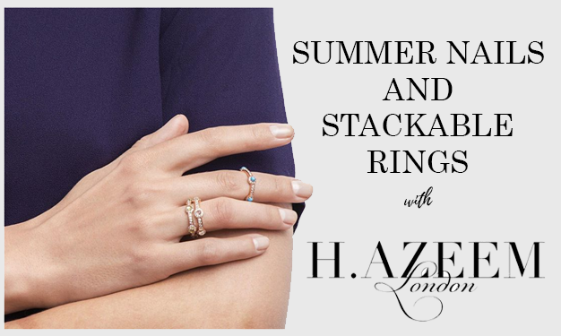 Summer Nails and Stackable Rings