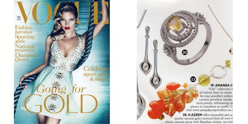 Brazilian Citrine Ring featured in Vogue