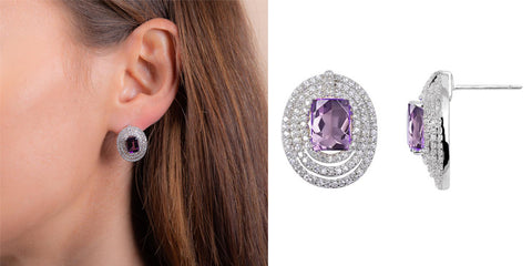 H.AZEEM London | Stunning Amethyst Earrings
