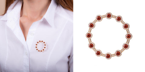 H.AZEEM London | Venus Garnet Brooch