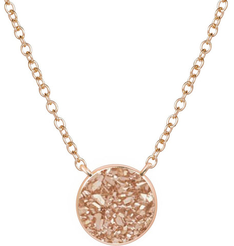 H.AZEEM London | Elara Rose Gold Rose Necklace
