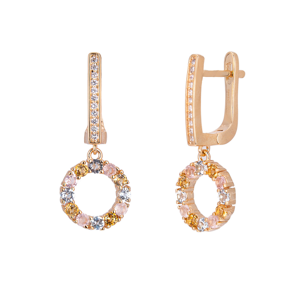 Venus Gold Drop Earrings - H.AZEEM London