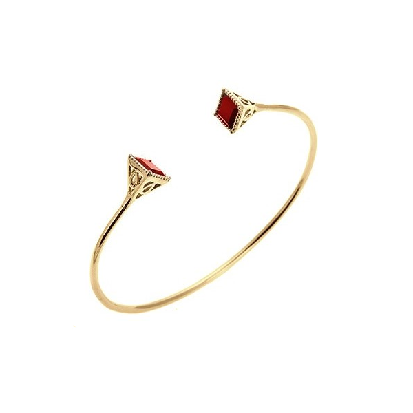 Admiral Gold Garnet Bangle - H.AZEEM London