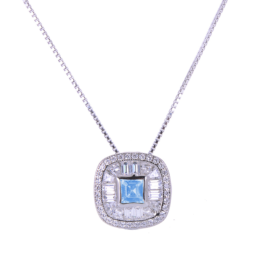 Sakura's Blue Topaz Moon Pendant - H.AZEEM London