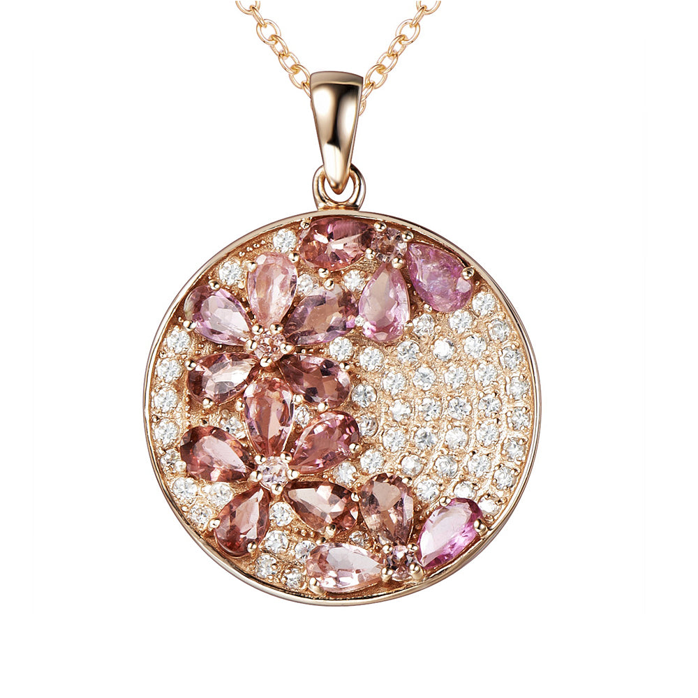 Enchanted Rose Gold Blossom Necklace - H.AZEEM London