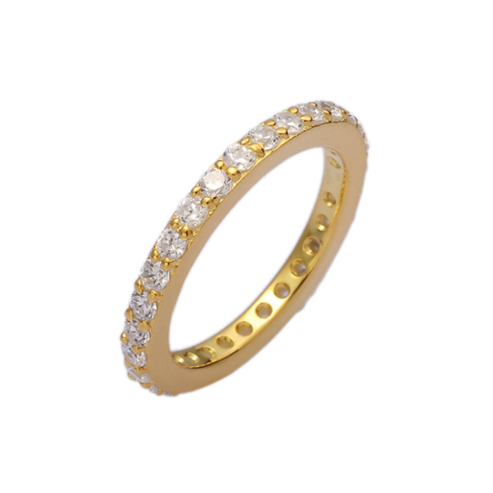 Gold Single Stacking Ring - H.AZEEM London