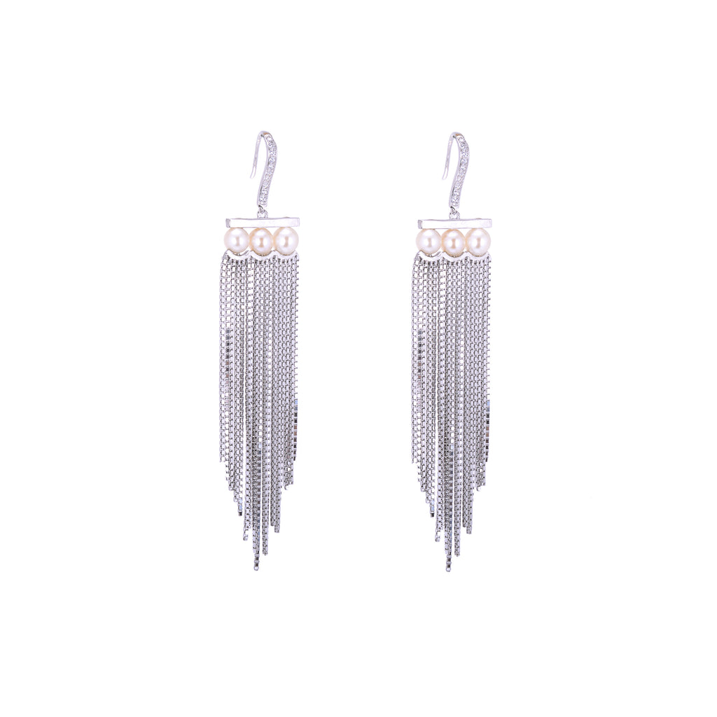 Hanging Blossom Earrings - H.AZEEM London