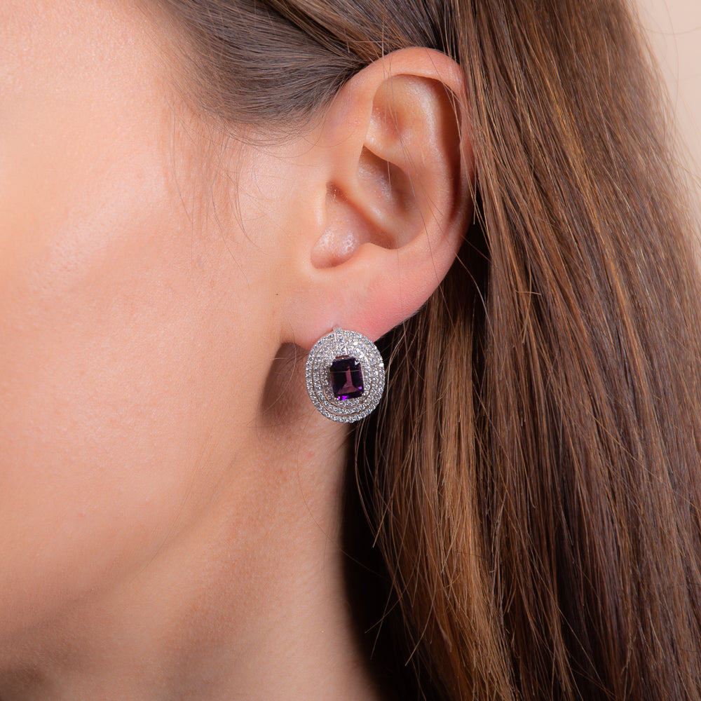 Stunning Amethyst Earrings - H.AZEEM London