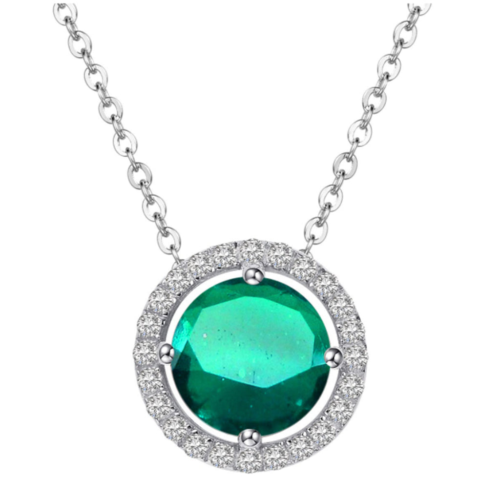 Royal Silver Emerald Necklace