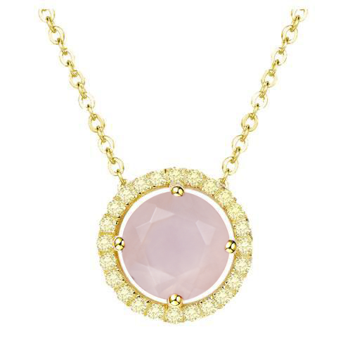 Royal Gold Rose Quartz Necklace