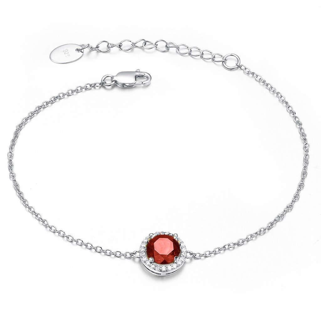 Royal Silver Garnet Bracelet - H.AZEEM London