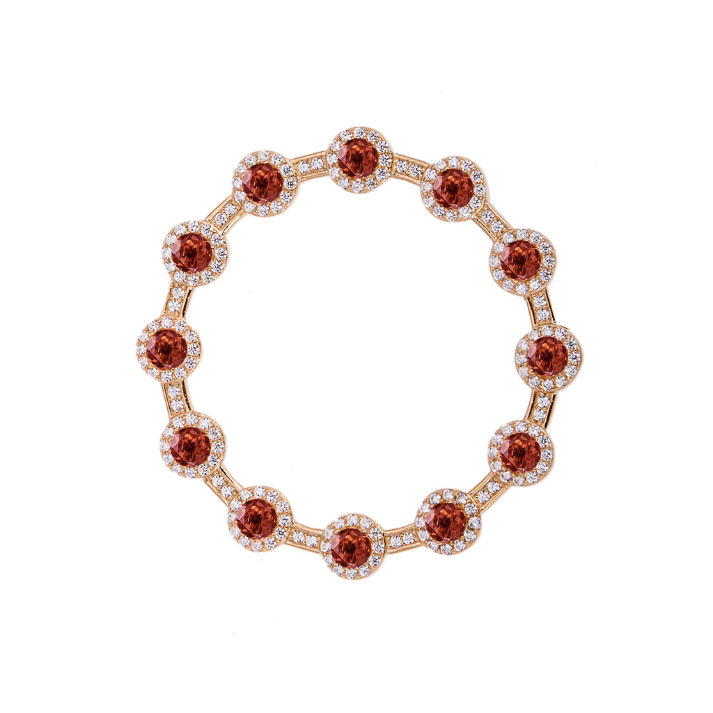 Venus Garnet Brooch - H.AZEEM London
