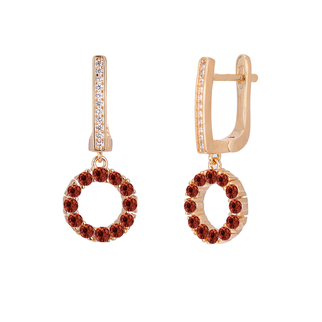 Venus Garnet Drop Earrings - H.AZEEM London