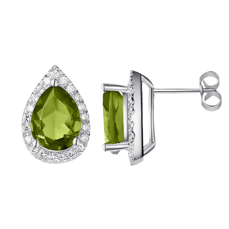 Luscious Peridot Earrings - H.AZEEM London