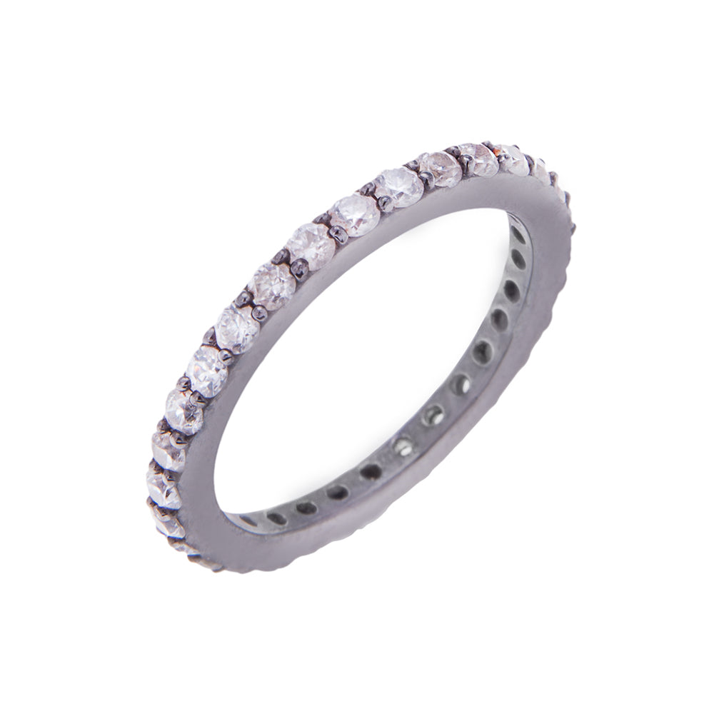Silver Single Stacking Ring - H.AZEEM London