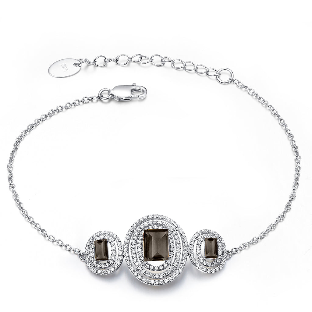 Stunning Smoky Quartz Bracelet - H.AZEEM London