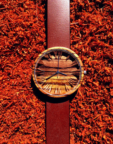 Wooden Watch Zebrano