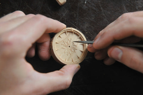 Engraved Wooden Watch Design