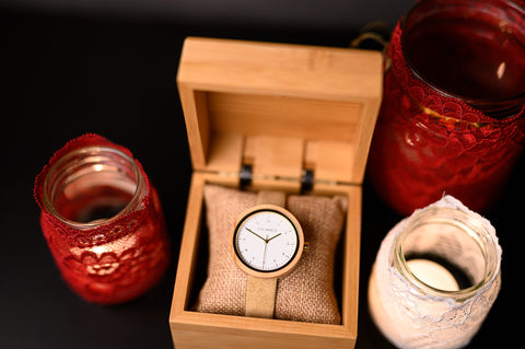 Ovi Wooden Watch with Vegan Leather Strap