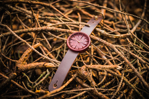 Ovi Wooden Watch Purpleheart