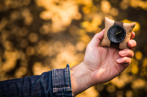 Ovi Wooden Watch Black Prunus