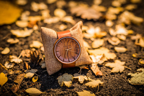 Men's Ovi Wooden Watch Grandis With Japanese Quartz Movement
