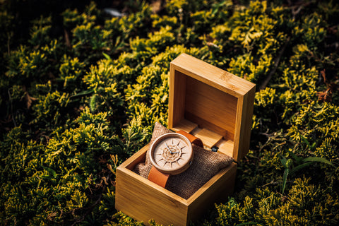 Womens Engraved Maple Wooden Watch with Gift Box