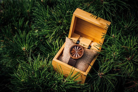 Ovi Wooden Watch Natura 36 With Gift Box