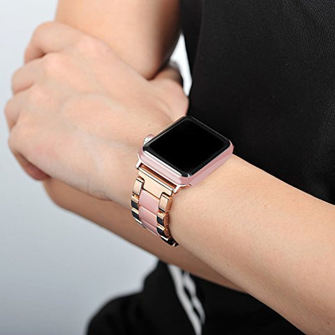 Wearlizer Fashion Stainless Steel Resin Strap