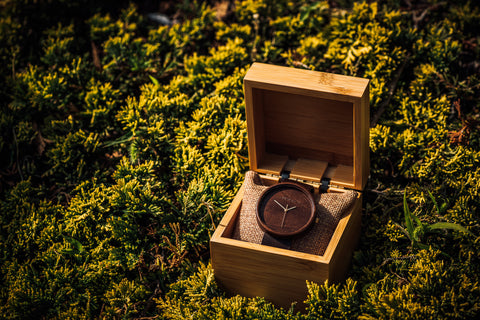 Ovi Wooden Watch Avium With a Clear Dial