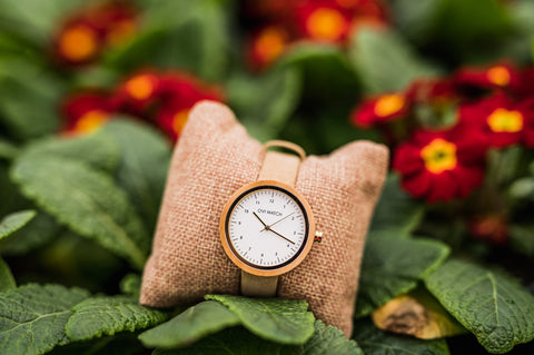 Ovi Wooden Wrist Watch Vigoureux With Vegan Leather Strap