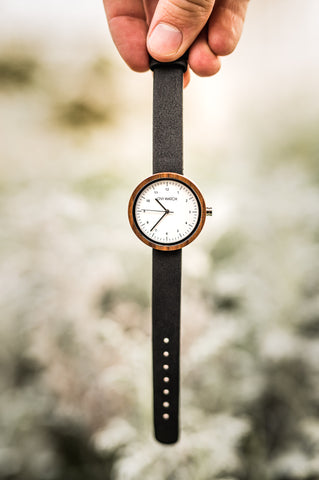 Ovi Vegan Leather Wooden Watch Evelyn