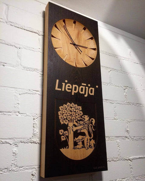 Personalised Wooden Wall Clock Liepaja