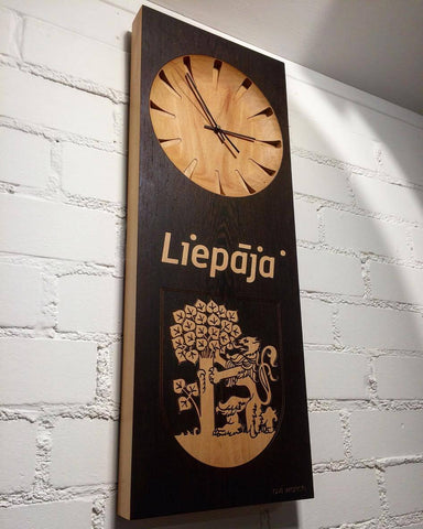 Large Wall Clock with Engraved Logo Company