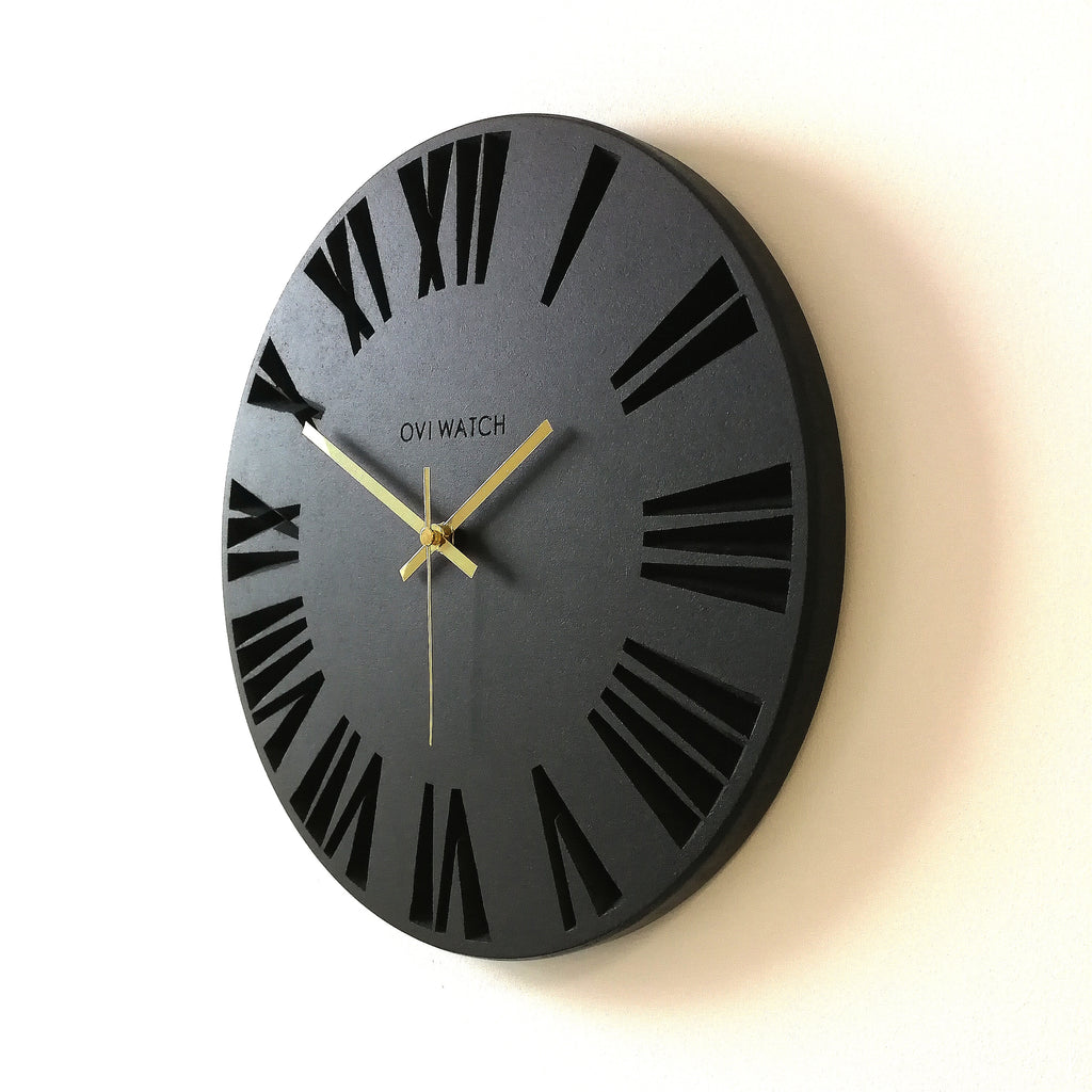 Dark Wooden Wall Clock - Ovi Watch