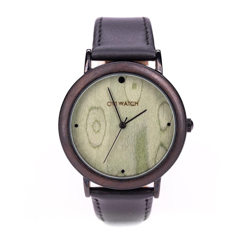 Herbo - Green and Black Wooden Watch