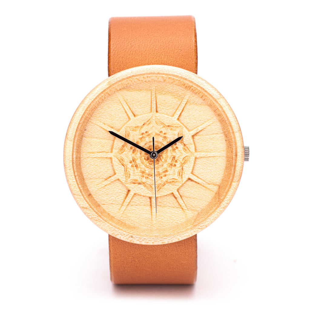 Charon - Engraved Wooden Watch for Women