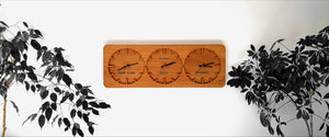 Three Time Zone Wall Clock - Ovi Watch