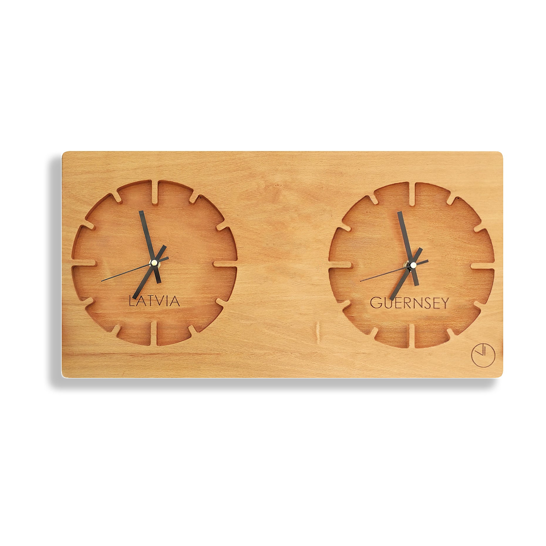 Two Time Zone Wall Clock - Ovi Watch