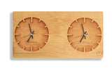 Two Time Zone Wall Clock