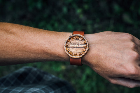 Men Zebrano Wooden Watch