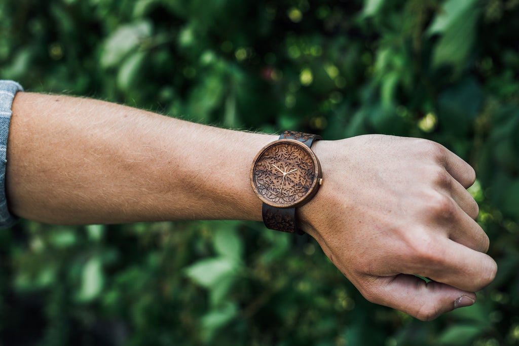 Ovi King Mandala Wood Watch