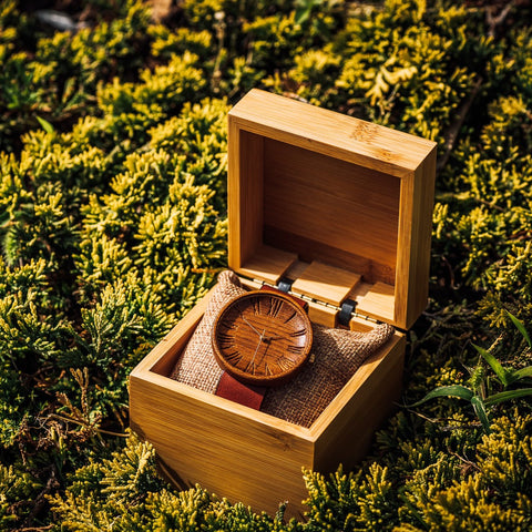 Mens Teak Wood Watch