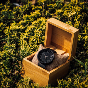 Black Prunus - Wooden Watch for Men
