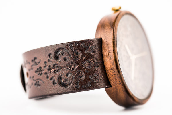 Engraved Leather Watch Strap - Ovi Watch