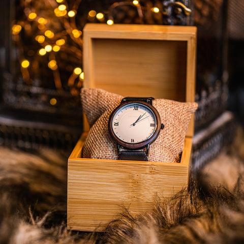 Ovi Wooden Watch Argenti With Gift Box