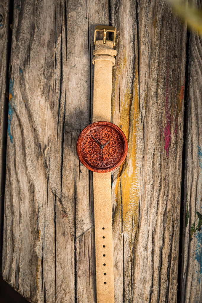 Olsen - Red Wooden Watch for Women