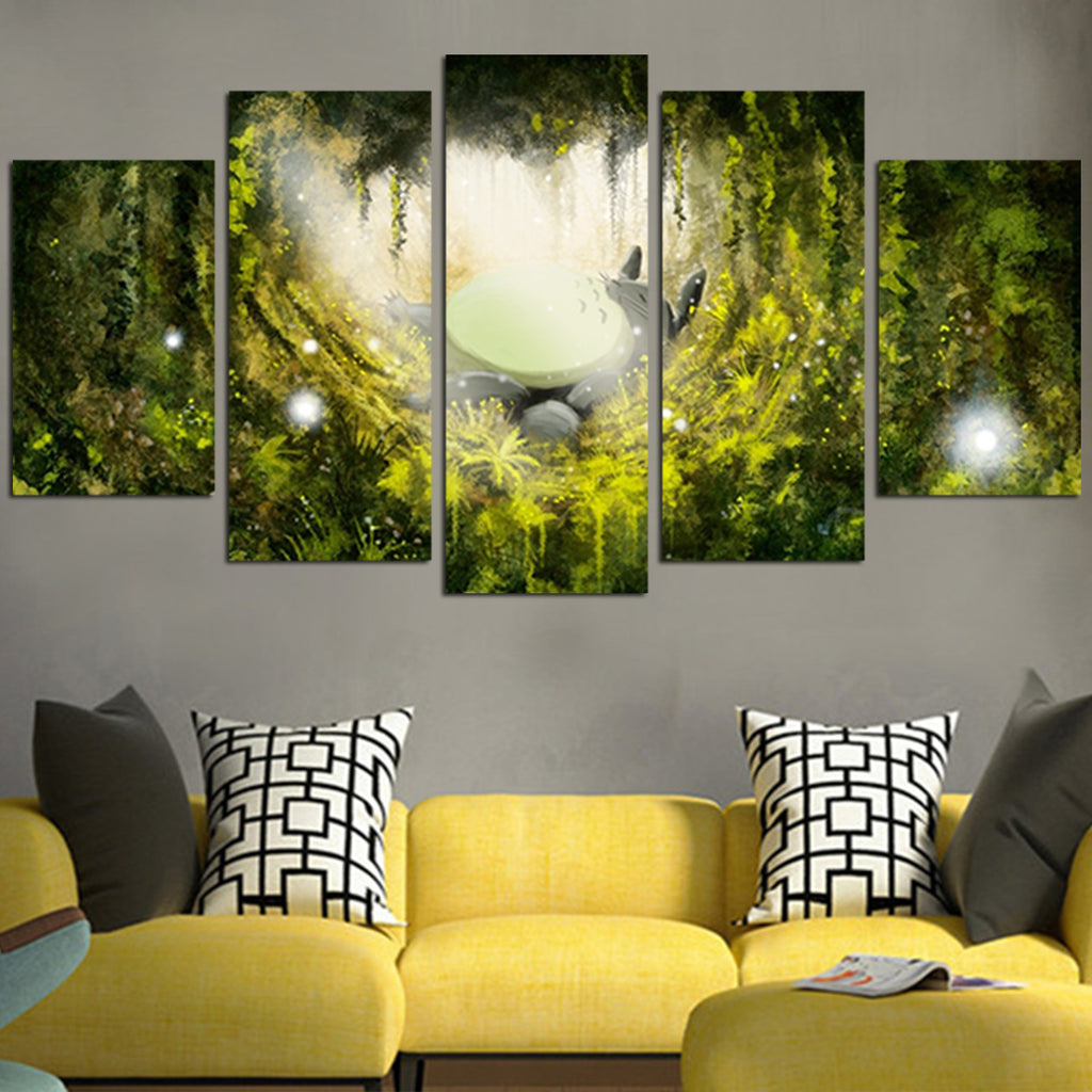 totoro s forest relax wall art canvas anime hacks